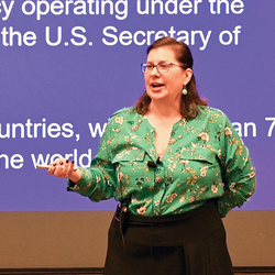 Brown-bag focuses on USAID's mission to build self-reliance