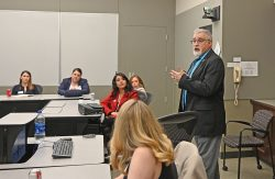 """Dr. Steve Boylan from CGSC's Department of Command and Leadership leads a discussion on """"The Use of the Myers-Briggs Type Indicator in CGSC."""""""
