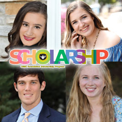 composite image of the four students who won the Foundation's scholarship awards