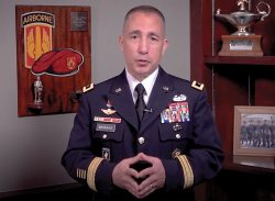Provost of Army University and CGSC Deputy Commandant Maj. Gen. Stephen J. Maranian delivers remarks during the SAMS virtual graduation ceremony May 21, 2020.