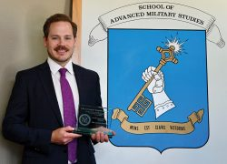 Mr. Chuck Vetter, U.S. Department of State, recipient of the Simons Center Interagency Writing Award for SAMS Class of 2020.