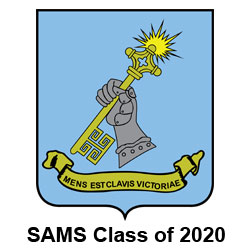 SAMS Crest with Class of 2020 text below