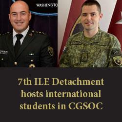 7th ILE Detachment hosts international students in CGSOC