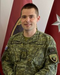 Maj. Jaser Mulla, also in the regular army in Pristina, Kosovo, is also attending the CGSOC course in Germany.