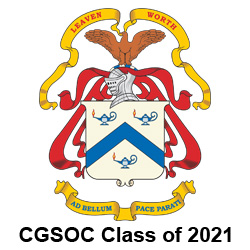 "CGSC crest with ""CGSOC Class of 2021"" text at bottom"