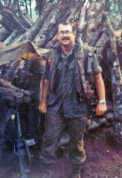 Twenty-three year old Capt. Jim Willbanks in Vietnam in 1972, in the vicinity of An Loc in Military Region III, near the Cambodian border.