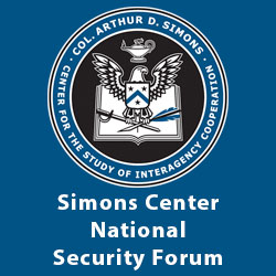 Simons Center National Security Forum – May 20