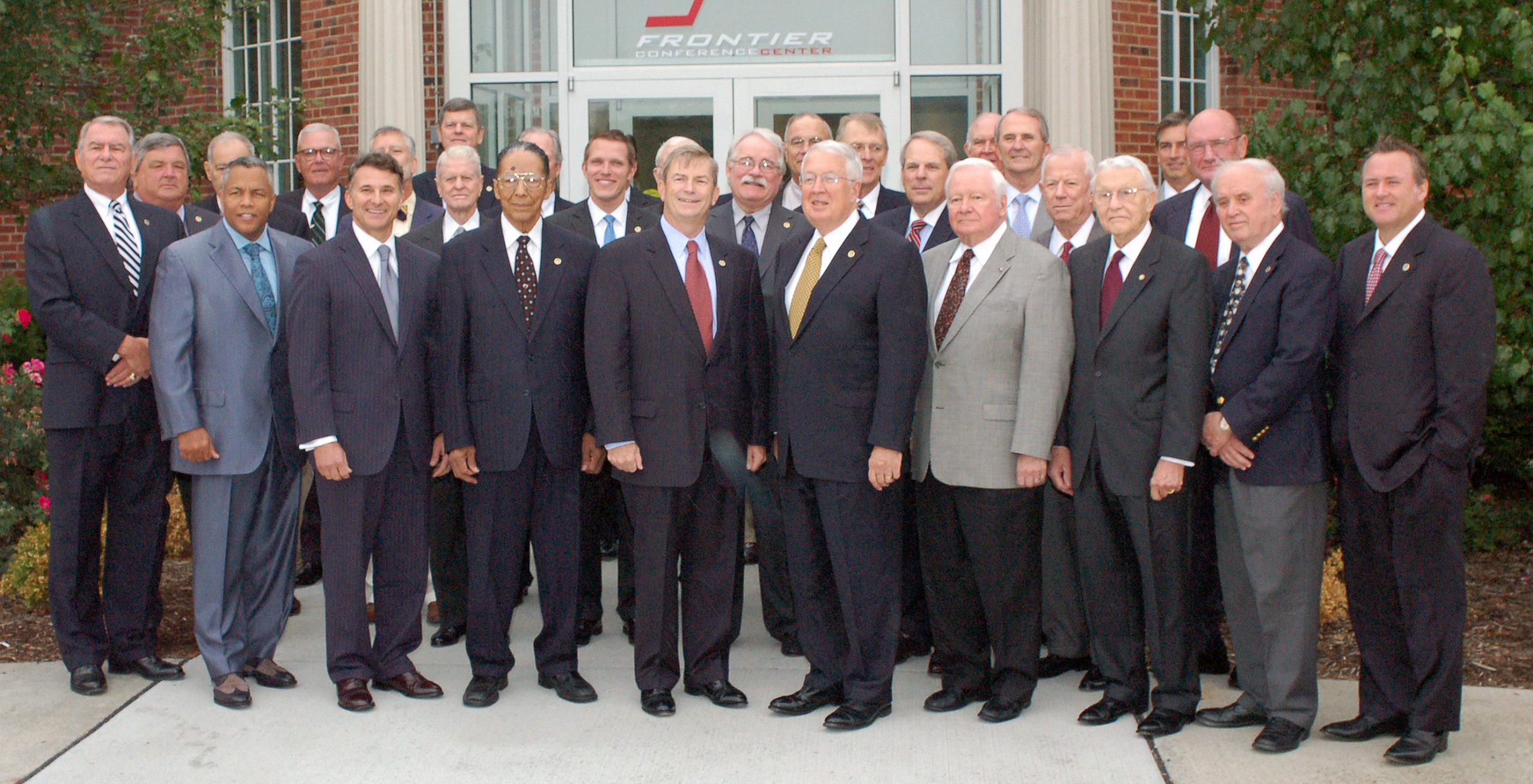 Tim Carlin (front row, second from left) attends his first board meeting as a member of the CGSC Foundation Board of Trustees on Sept. 13, 2012.