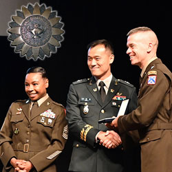 CGSOC Class of 2021 international officers receive badges