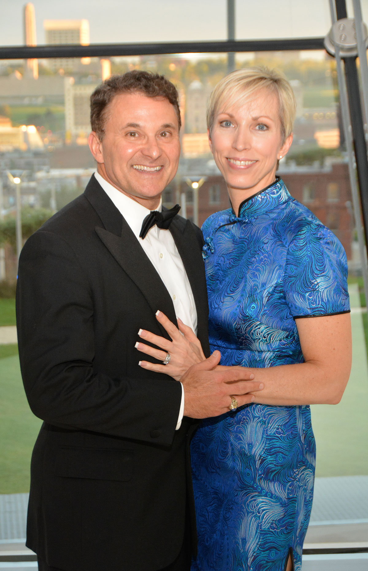 Tim and Karen Carlin at the CGSC Foundation's 2016 Celebration of International Friendship at the Kauffman Center for the Performing Arts in downtown KC.