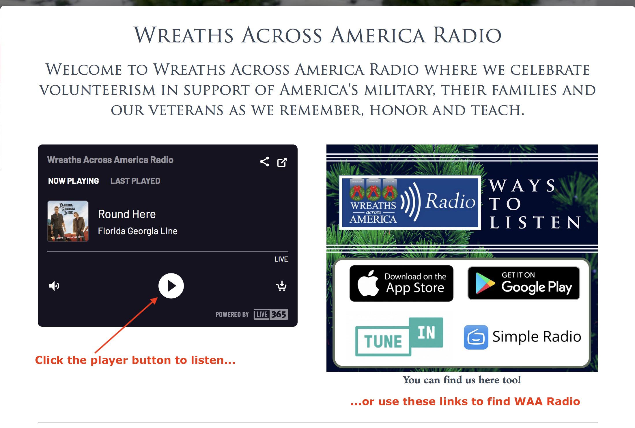 WAA Radio screen capture
