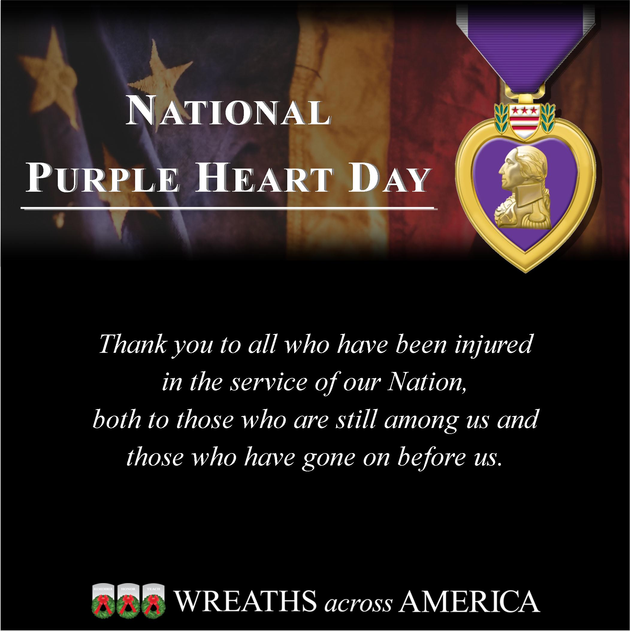 Honor Purple Heart Recipients Past and Present