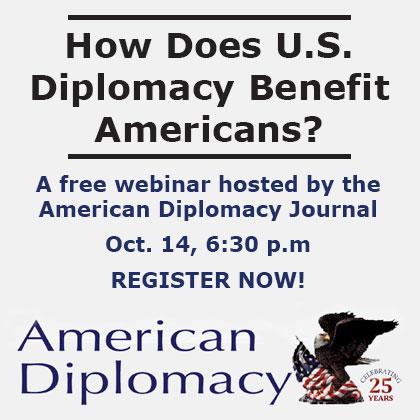 Register now for an American Diplomacy webinar – Oct. 14
