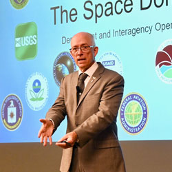 InterAgency Brown-Bag Lecture focuses on space and interagency operations